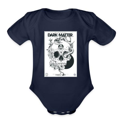 Flowery-Skull - Organic Short Sleeve Baby Bodysuit