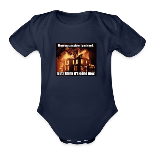 There was a spider - Organic Short Sleeve Baby Bodysuit