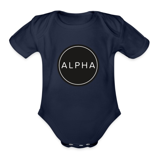 alpha team fitness - Organic Short Sleeve Baby Bodysuit