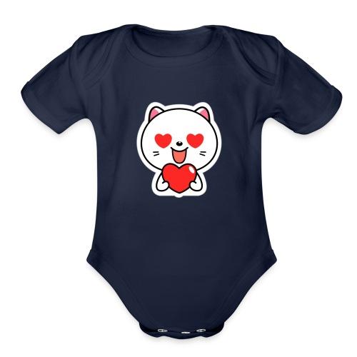mayo the viber cat 2 by em120xd7ic33y - Organic Short Sleeve Baby Bodysuit