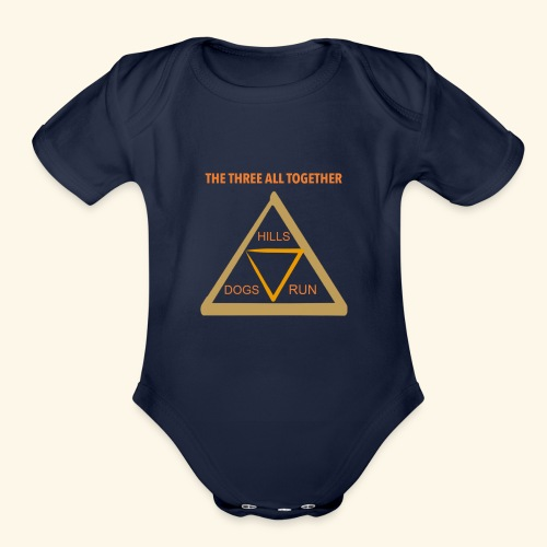Run4Dogs Triangle - Organic Short Sleeve Baby Bodysuit