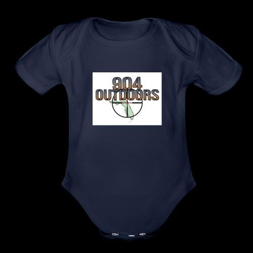 White Logo Shirts - Organic Short Sleeve Baby Bodysuit