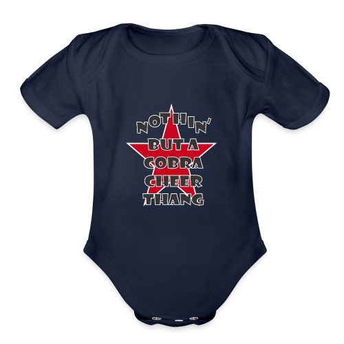 It's A Cobra Thang - Organic Short Sleeve Baby Bodysuit