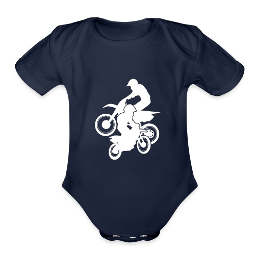 Motocross Dirt Bikes Off-road Motorcycle Racing - Organic Short Sleeve Baby Bodysuit