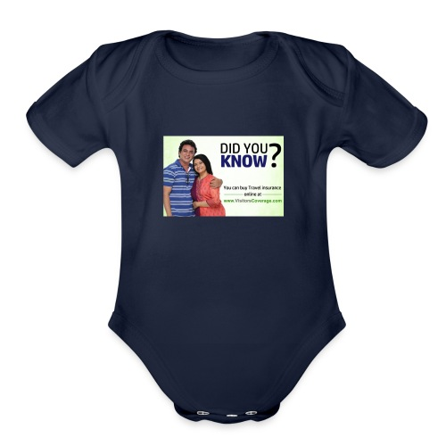 did you know - Organic Short Sleeve Baby Bodysuit