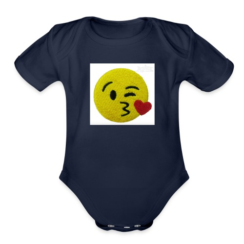 cute pictured phonecase - Organic Short Sleeve Baby Bodysuit
