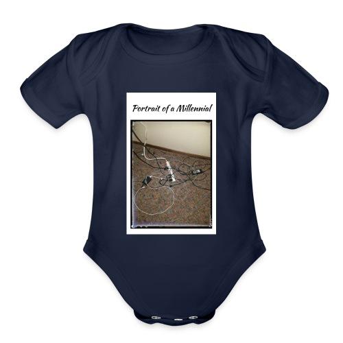 Portrait of a Millennial - Organic Short Sleeve Baby Bodysuit