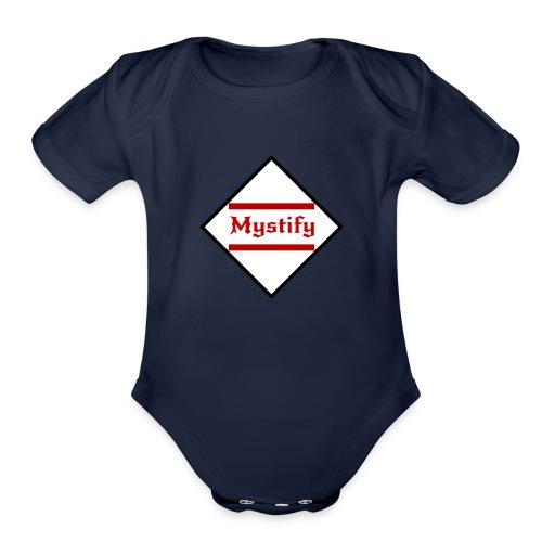 Mystify Logo #3 - Organic Short Sleeve Baby Bodysuit