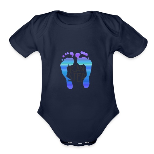 I.C.A.N.S.T.E.P. MOTTO - Organic Short Sleeve Baby Bodysuit