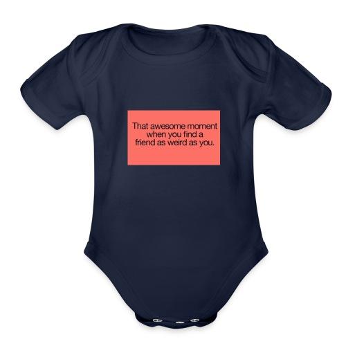 friends - Organic Short Sleeve Baby Bodysuit