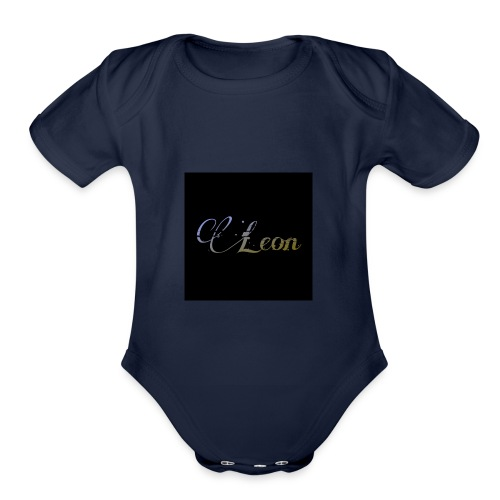 Leon poster Official - Organic Short Sleeve Baby Bodysuit