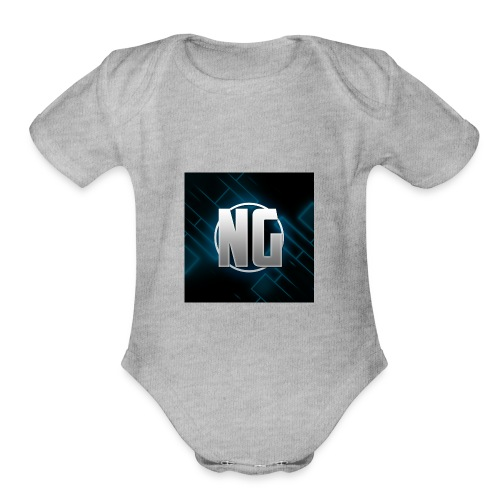 NadhirGamer Merch - Organic Short Sleeve Baby Bodysuit