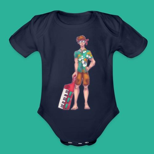 Wendal The Weed Wizard - Organic Short Sleeve Baby Bodysuit