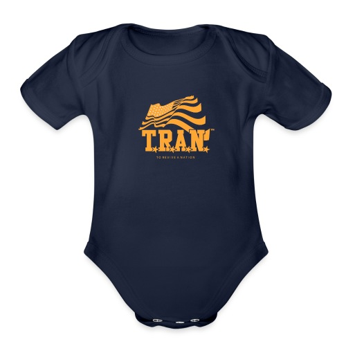 TRAN Gold Club - Organic Short Sleeve Baby Bodysuit