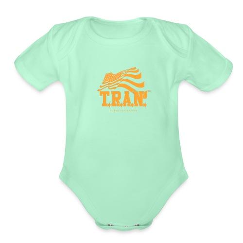 TRAN Gold Club - Organic Short Sleeve Baby Bodysuit