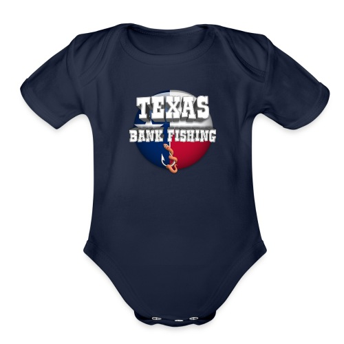 Texas Bank Fishing - Organic Short Sleeve Baby Bodysuit