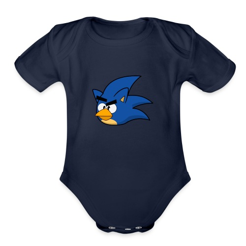 Sonic Angry Bird - Organic Short Sleeve Baby Bodysuit