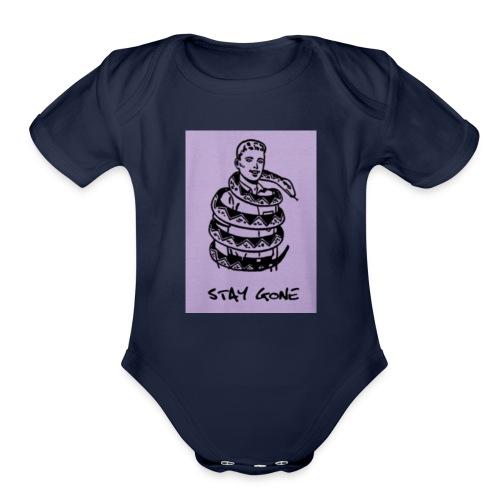 stay gone - Organic Short Sleeve Baby Bodysuit