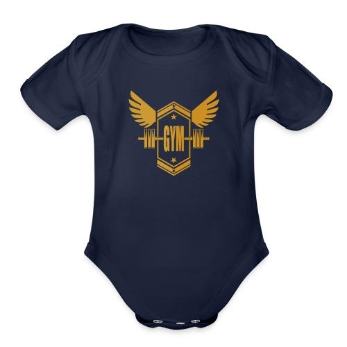 Logo GYM - Organic Short Sleeve Baby Bodysuit