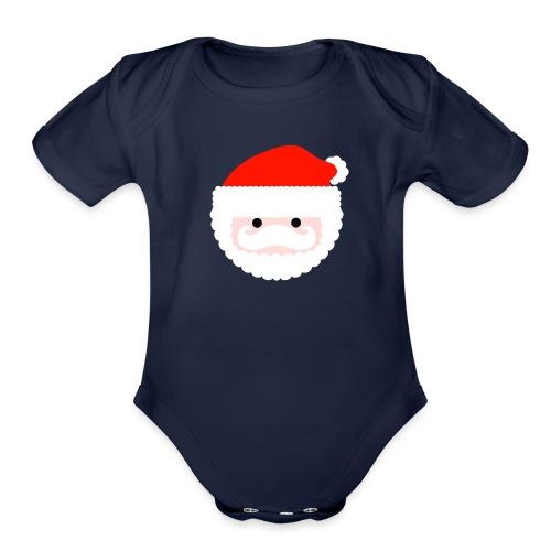 santa - Organic Short Sleeve Baby Bodysuit