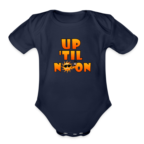 Up Til Noon Water Bottle - Organic Short Sleeve Baby Bodysuit