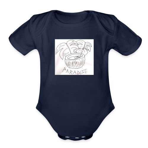 Coconut paradise - Organic Short Sleeve Baby Bodysuit