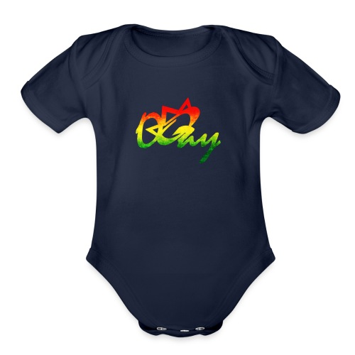 OQay Rasta - Organic Short Sleeve Baby Bodysuit