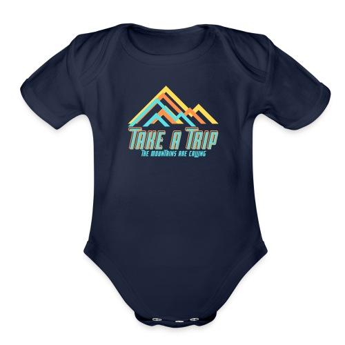 Take a trip - Organic Short Sleeve Baby Bodysuit