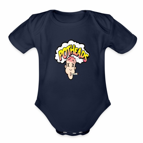 Local 420 pothead tees - Organic Short Sleeve Baby Bodysuit