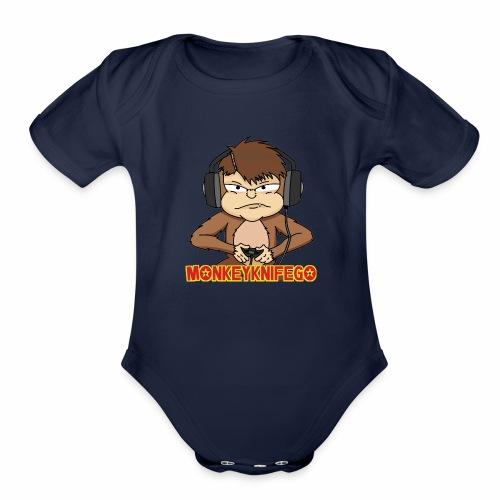 monkeyknifego - Organic Short Sleeve Baby Bodysuit