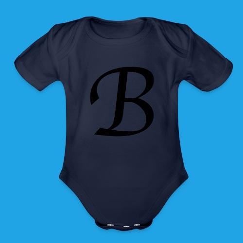 Letter B - Organic Short Sleeve Baby Bodysuit