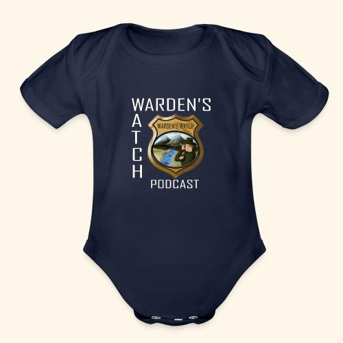 warden s watch front3 - Organic Short Sleeve Baby Bodysuit
