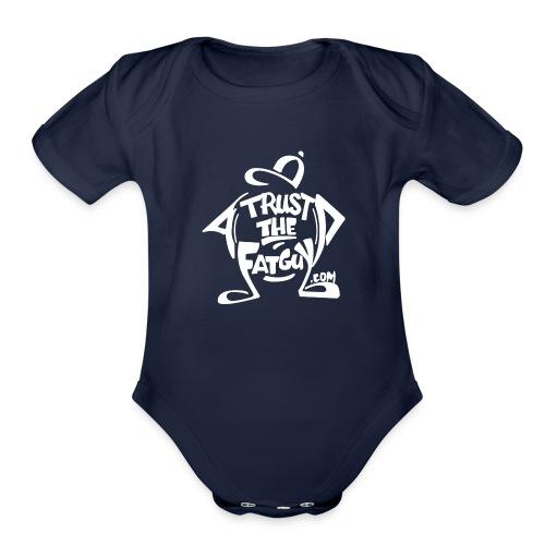 TTFG_White - Organic Short Sleeve Baby Bodysuit