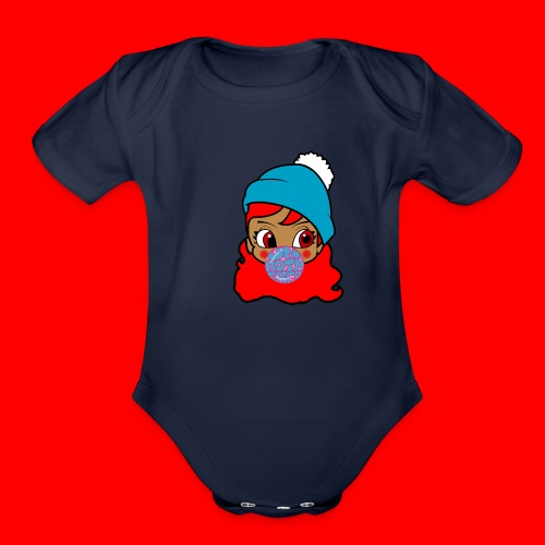 unbothered_girl - Organic Short Sleeve Baby Bodysuit