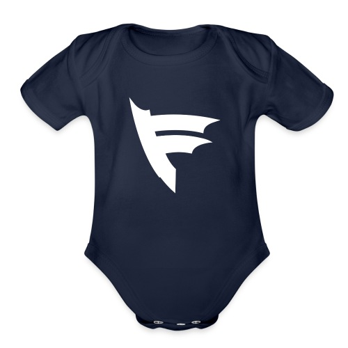 the f white - Organic Short Sleeve Baby Bodysuit