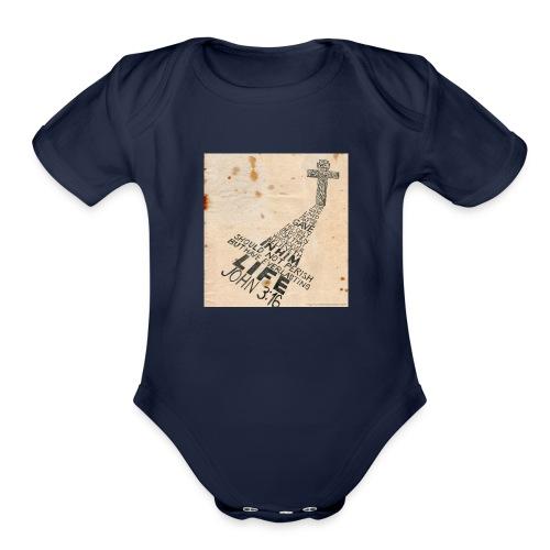 john3:16 - Organic Short Sleeve Baby Bodysuit
