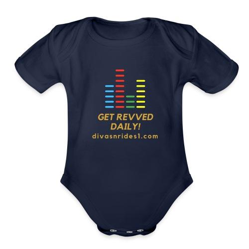 RevvedWithDNR01 - Organic Short Sleeve Baby Bodysuit