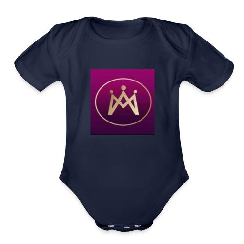 230crazy Logo - Organic Short Sleeve Baby Bodysuit