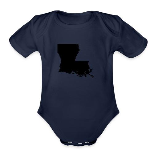 LA LARGE - Organic Short Sleeve Baby Bodysuit