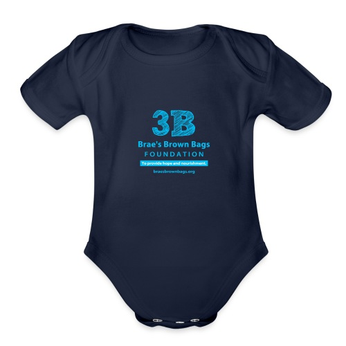 3b round png - Organic Short Sleeve Baby Bodysuit