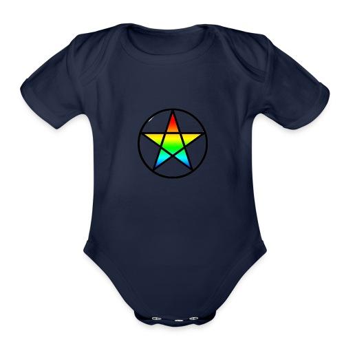Official Iridescent Tee-Shirt // Men's // White - Organic Short Sleeve Baby Bodysuit