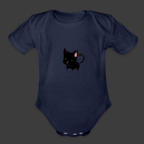 black cat hoodie - Organic Short Sleeve Baby Bodysuit