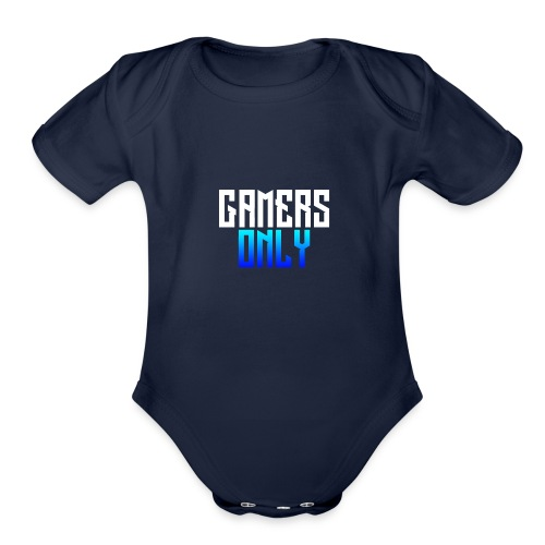 Gamers only - Organic Short Sleeve Baby Bodysuit