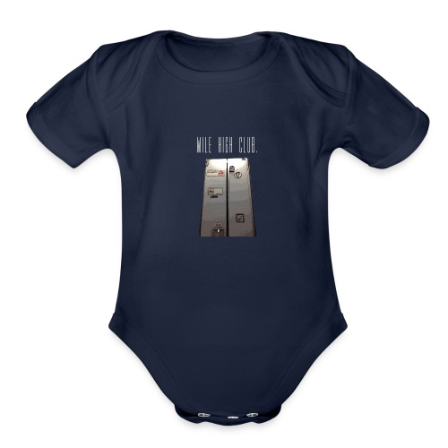 MILE HIGH CLUB - Organic Short Sleeve Baby Bodysuit