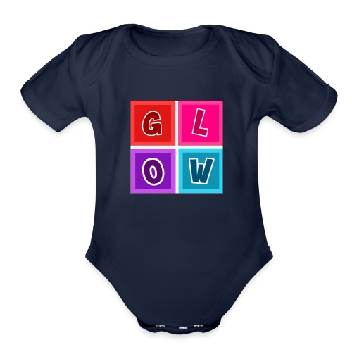 Glow Blocks - Organic Short Sleeve Baby Bodysuit