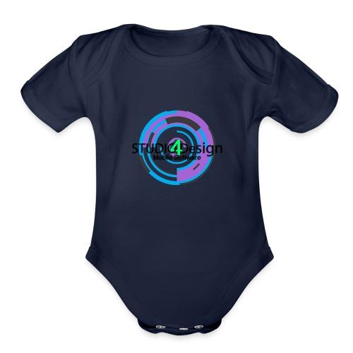 S4DLogo - Organic Short Sleeve Baby Bodysuit