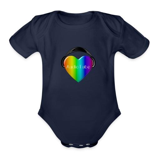 I LOVE AudioTube - Organic Short Sleeve Baby Bodysuit