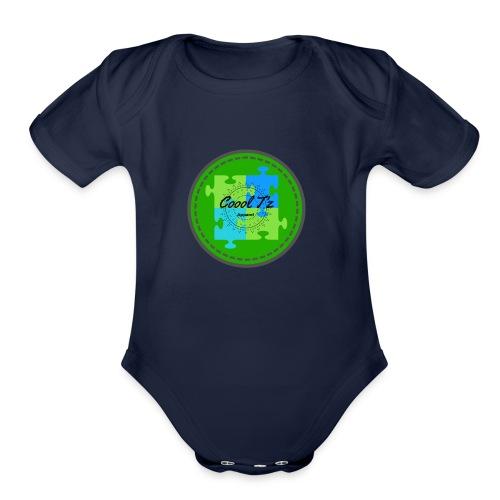Coool T'z Green - Organic Short Sleeve Baby Bodysuit
