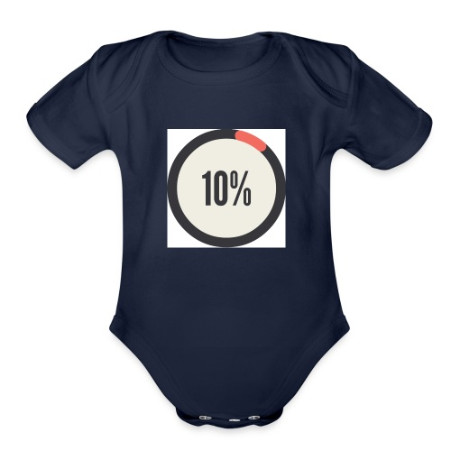 10% Album - Organic Short Sleeve Baby Bodysuit