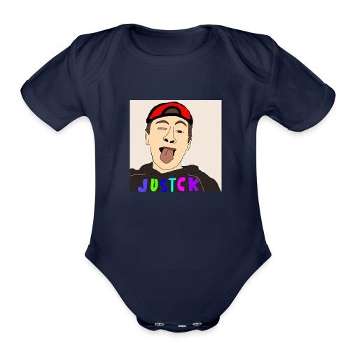 JustCk self drawn by Dazadingo - Organic Short Sleeve Baby Bodysuit